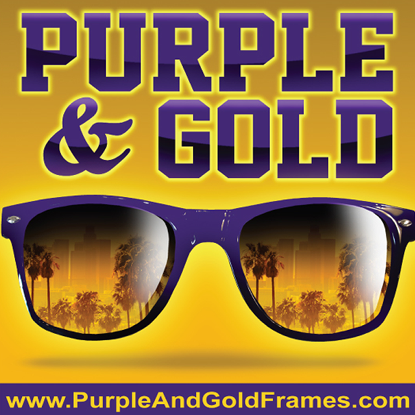 Through Purple and Gold Frames